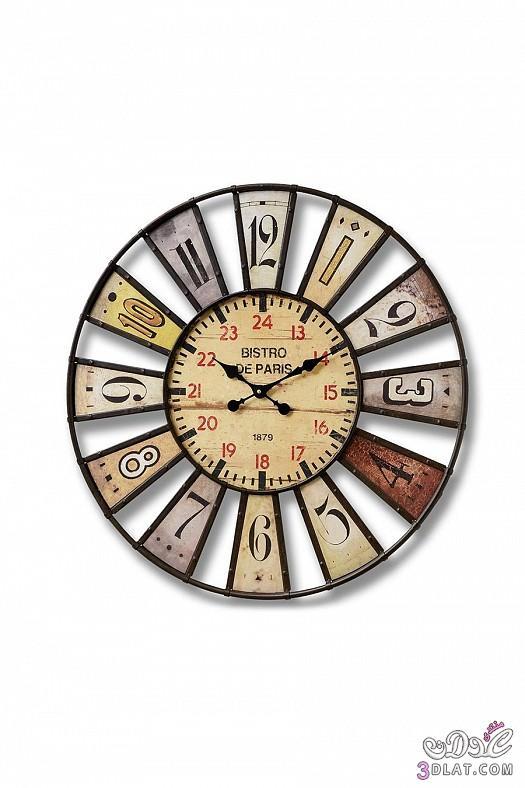 ساعات حائط  ساعات حائط ابطابع كلاسيكي هادئ 13883884383.jpg