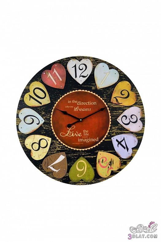 ساعات حائط  ساعات حائط ابطابع كلاسيكي هادئ 13883884386.jpg