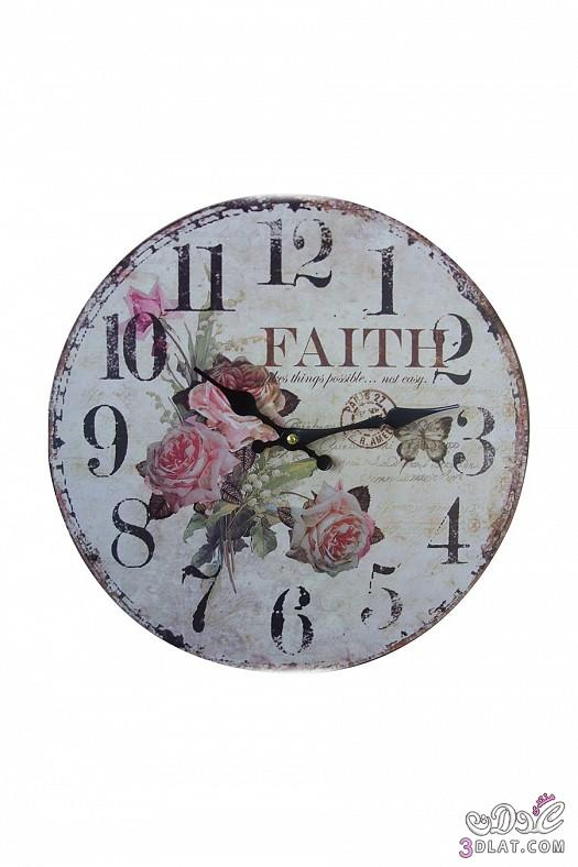 ساعات حائط  ساعات حائط ابطابع كلاسيكي هادئ 13883884387.jpg