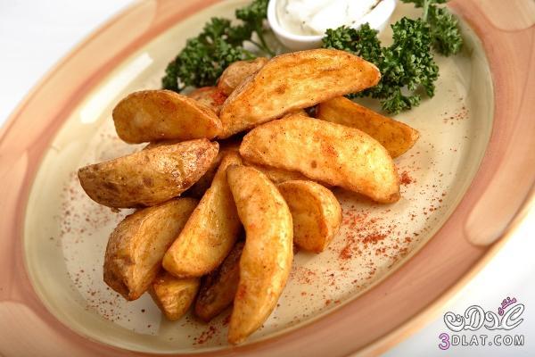 طريقة أصابع البطاطس بالبابريكا والزعتر
