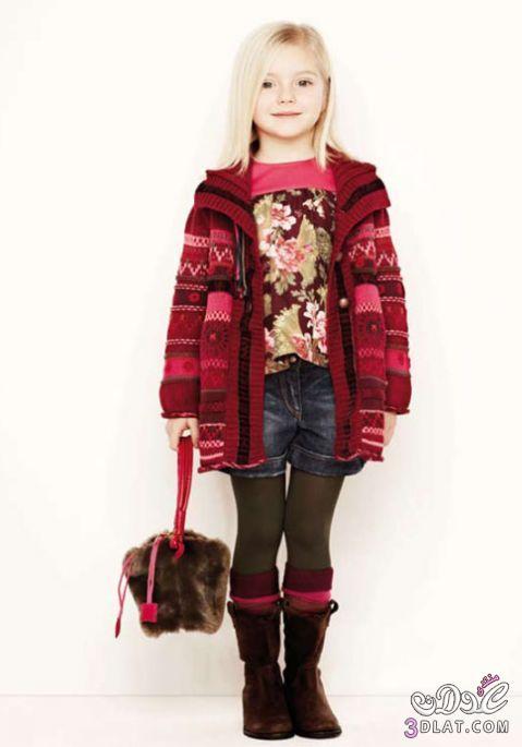 أزياء شتاء 2014 للاطفال ازياء