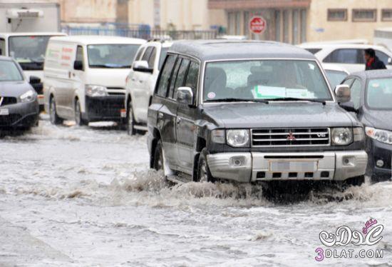 استمرار هطول الأمطار البحرين وازدحامات