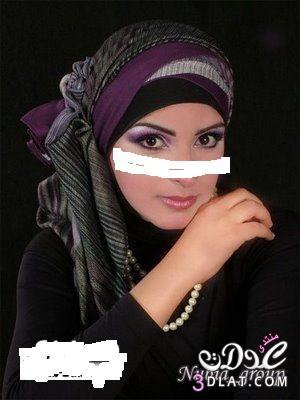 لفات طرحة مكياج تحفة