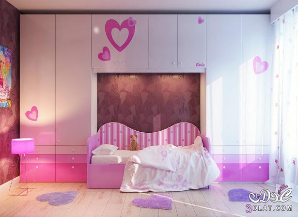 غرف نوم للصبايا باللون البينك ,<br /><br /> <br /><br />غرف نوم للبنات مودرن 2019 بالون البينك