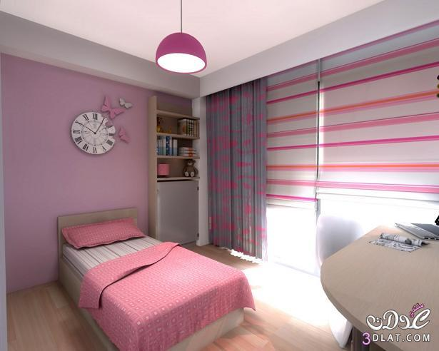 غرف نوم للصبايا باللون البينك , غرف نوم للبنات مودرن 2019 بالون البينك