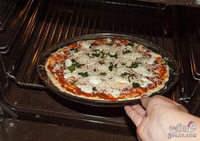 كيفية البيتزا الطريقة الامريكية Make