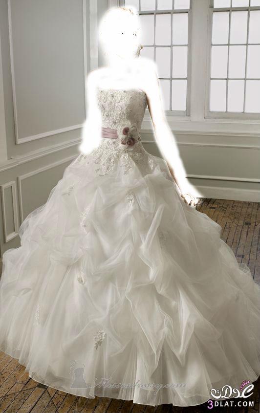 تألقي باللون الابيض في يوم زفافك فساتين 2014
