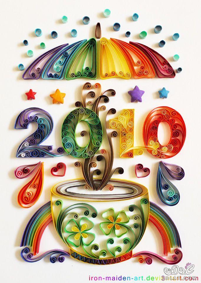 لوحات وبراويز من ورق الكنسون لتزيين المنزل ,فن الكانسون بالوانه المتميزه والرائعه 3dlat.com_02_2014)ئ2