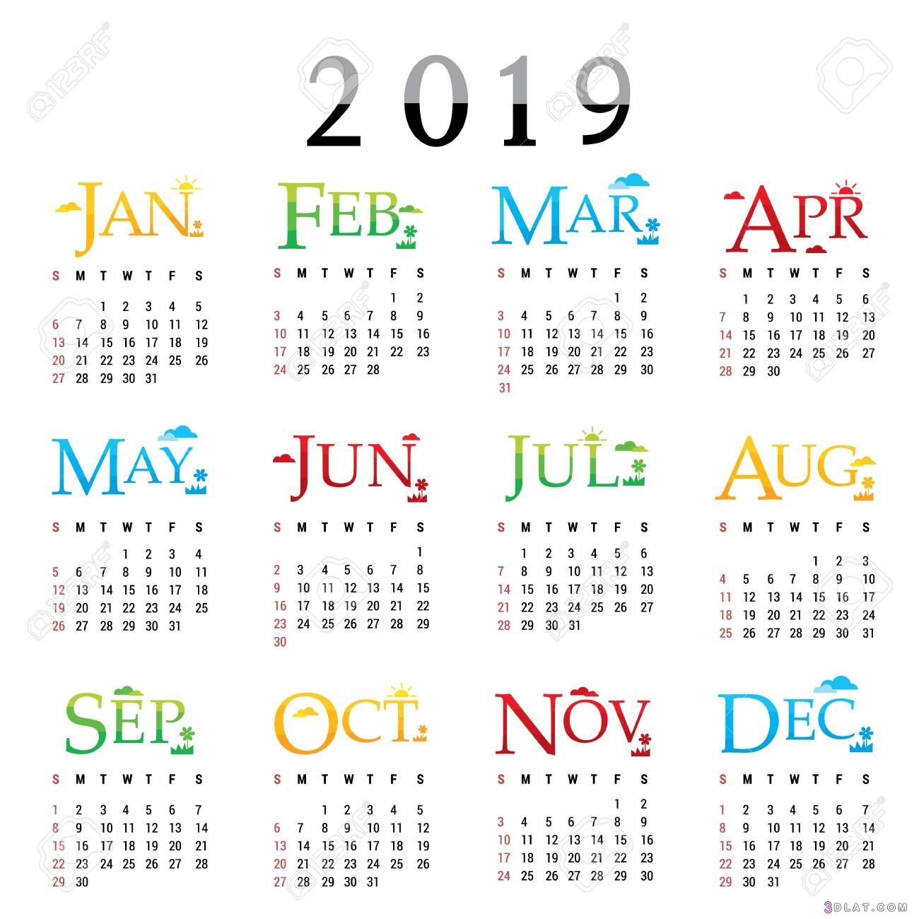 التقويم الميلادي لعام 2019, التقويم الميلادي الجديد لعام