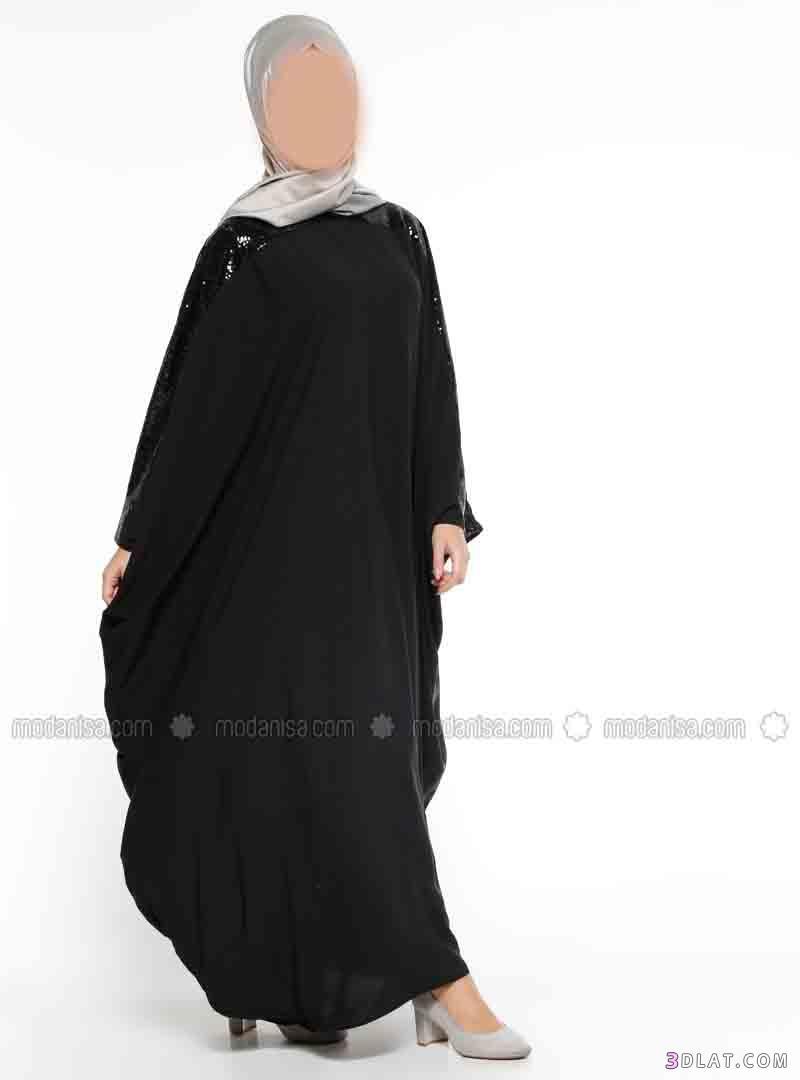 15e023142 عبايات رمضان 2020,عبايات سوداء ناعمة , عبايات واسعة سادة, عبايات ...