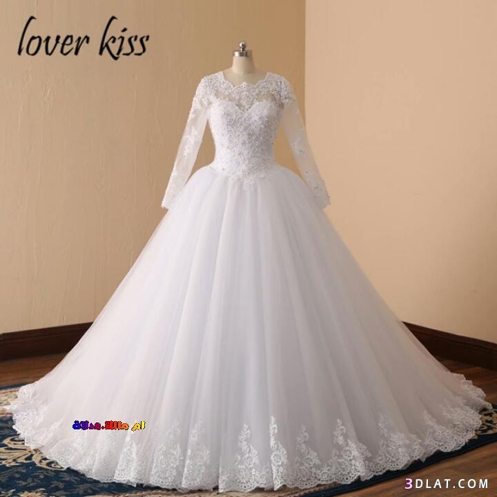 0d8c1f384 فساتين زفاف 2020.اشيك فساتين الزفاف العالمية باكمام طويلة.زفاف ...