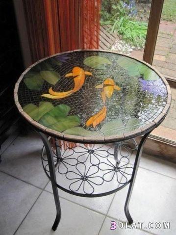 طاولات حديثة بالوان واشكال مزخرفة, اجمل 3dlat.com_06_18_4309