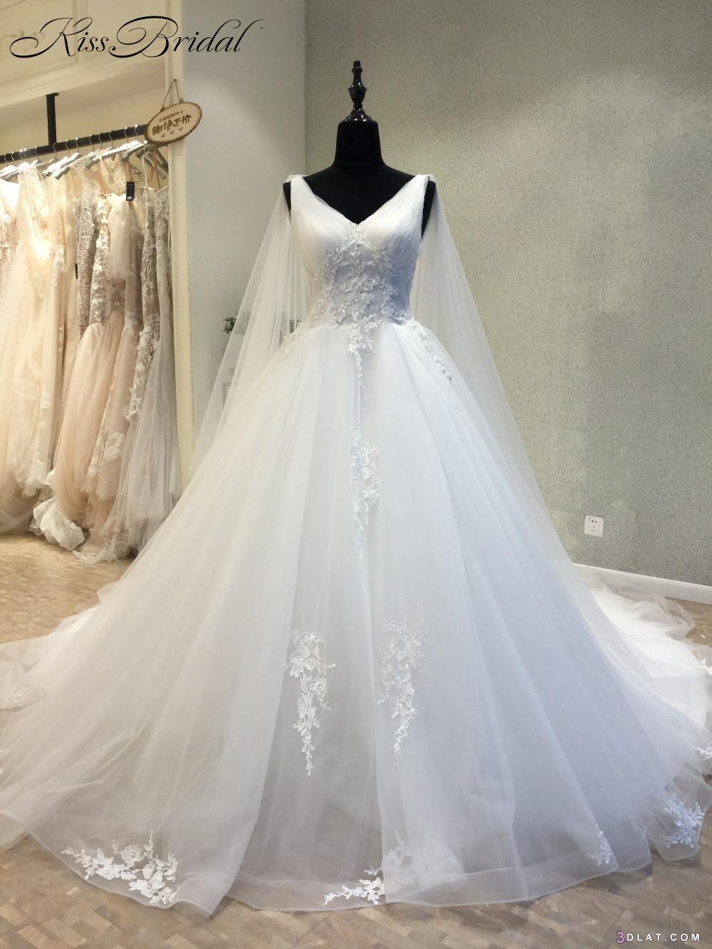 كولكشن جديد من فساتين الزفاف بالدانتيل ٢٠١٩