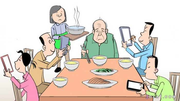 وسائل التواصل الاجتماعي تفكك الأسرة والمجتمع 3dlat.com_06_18_cdb1