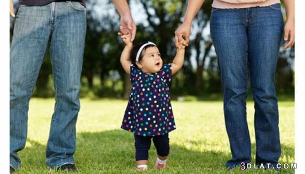 الاب, الطفل, دور, رعاية, كل, والام