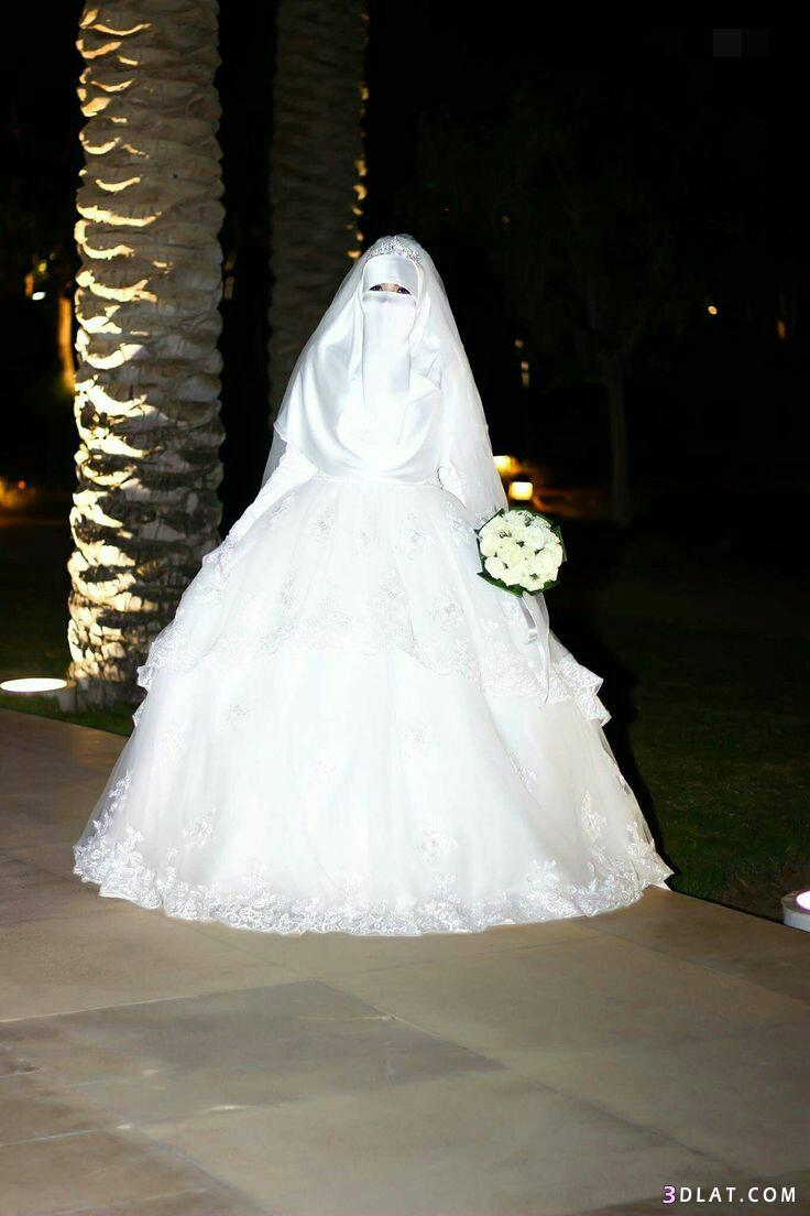 0923ac1a5 فساتين زفاف للمنتقبات اخر جمال.اجدد لفات حجاب زفاف للمنتقبات.اروع ...