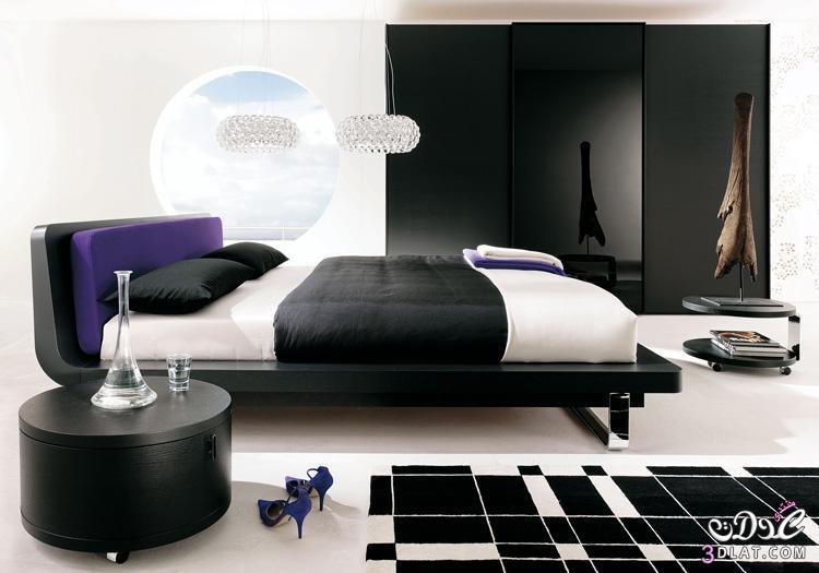 نعومة اللون الاسود في غرف النوم , غرف نوم فخمة , غرف نوم مودرن 2020
