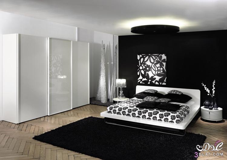 نعومة اللون الاسود في غرف النوم , غرف نوم فخمة , غرف نوم مودرن 2019