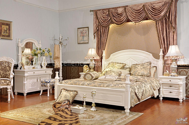 غرف نوم فرنسية حجرات نوم شيك للعرايس   نورى
