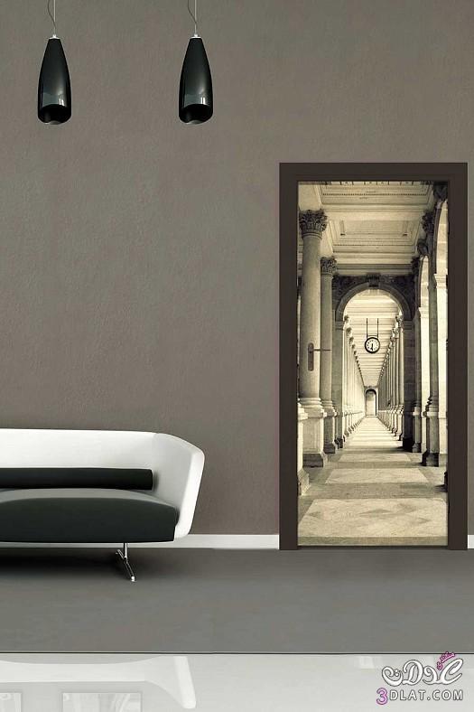 جدران لغرف المعيشة برسومات واشكال