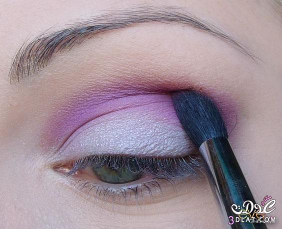طريقة رسم العين باللون البنفسجى ودرجاتة