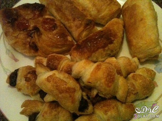 مطبخي] كرواسون بالشكولاتة وباتية بالجبنة