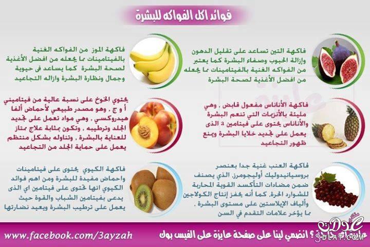 فوائد الفاكهة للبشرة