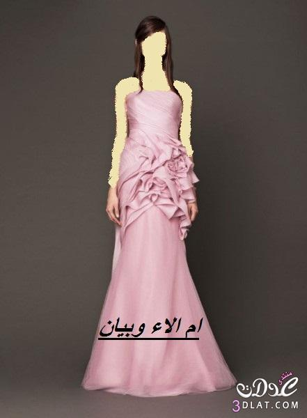 فساتين زفاف وخطوبة بالوان الورود لموسم 2019,احلى فساتين خطوبة وزفاف ملونة ج 2