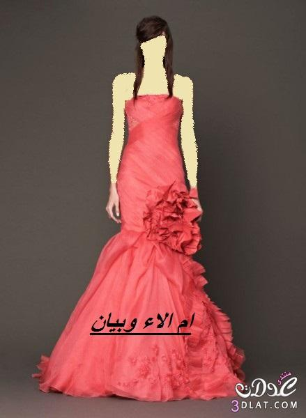 فساتين زفاف وخطوبة بالوان الورود لموسم 2014,احلى فساتين خطوبة وزفاف ملونة ج 2