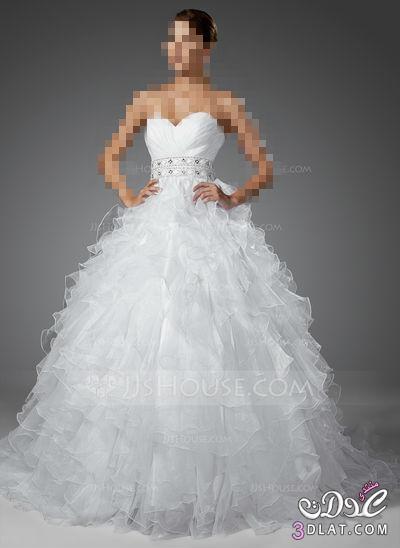 فساتين زفاف 2014 لاحلى عروسه ,فساتين منفوشة للافراح,فساتين عرائس جديدة