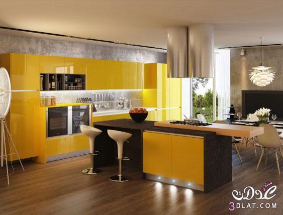 اختاري الألوان المتناقضة لمطبخ بالحداثة