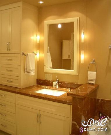 أفكار تزيد الدفء لديكور حمامات