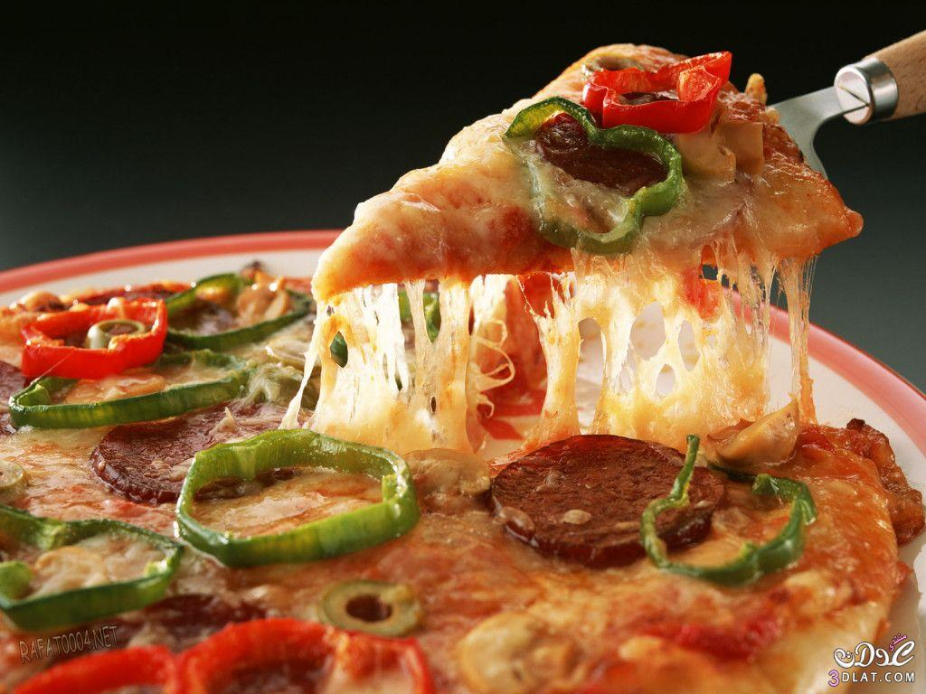 البيتزا بالدجاج والمشروم طريقة سهلة