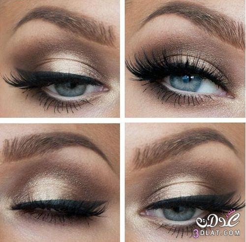 أجمل make up للعيون ، لمسات ناعمة لعيون ساحرة