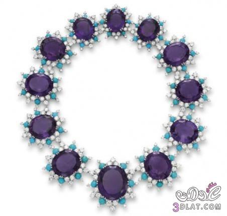 مجوهرات باللون البنفسج 2014 اكسسوارات