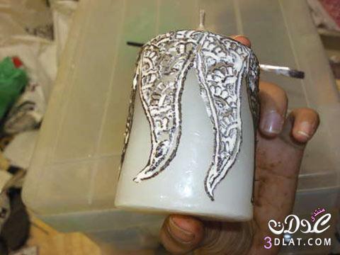 [صور] تجديد الشموع القديمة باستخدام