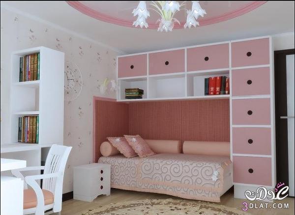 غرف نوم بنات بالوان مميزه , غرف نوم بنات كيوت , ديكورات غرف نوم