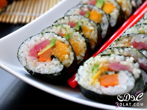 وصفة السوشي بالتونة,طريقة سوشي بالتونة,سهلة