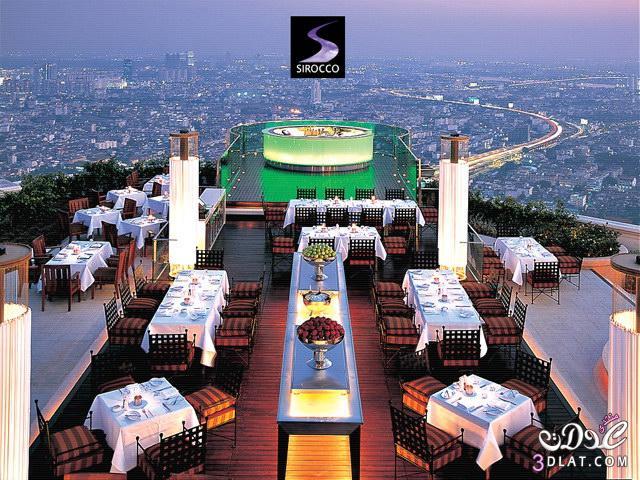 مطعم السحاب مطعم خطير تايلند