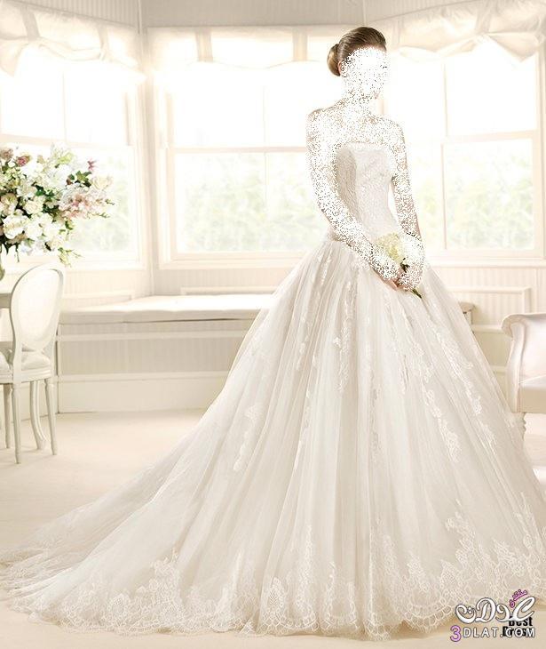 فساتين زفاف مميزة، أجمل فساتين الزفاف لعروس 2014