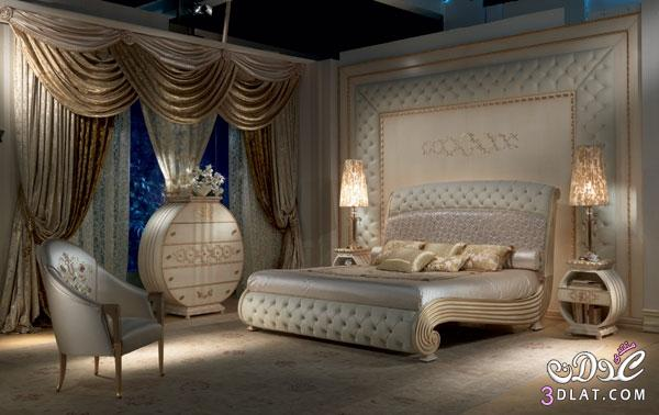 غرف نوم فخمة ديكورات غرف نوم جديدة سراير غرف نوم رائعة   توتى 1