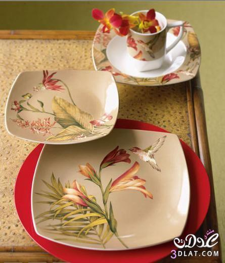 اطقم صيني اطباق راقيه2014 اطباق