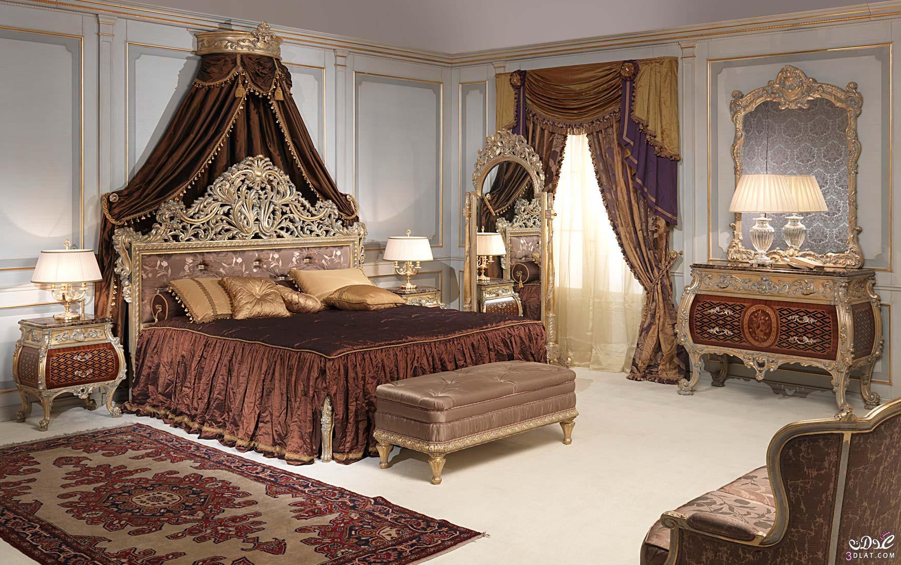 غرف نوم كلاسيك ديكورات غرف نوم ايطالية غرف نوم كلاسيك رائعة   توتى 1