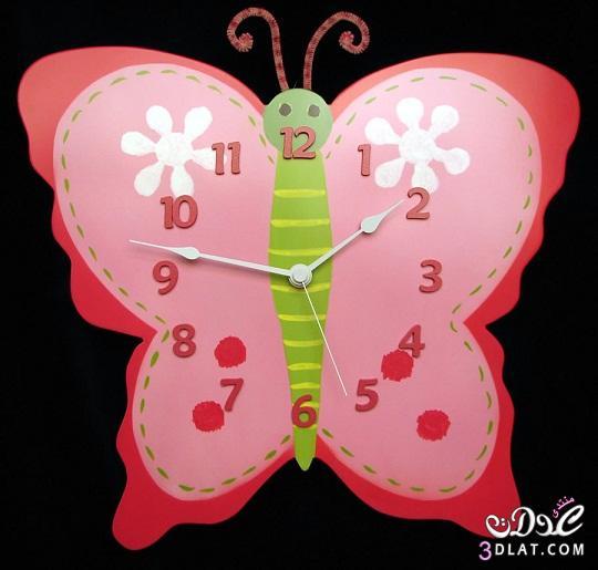 طريقة ساعة حائط جميلة لأطفالك,تطبيقى,ساعة حائط 3dlat.com_1392326841
