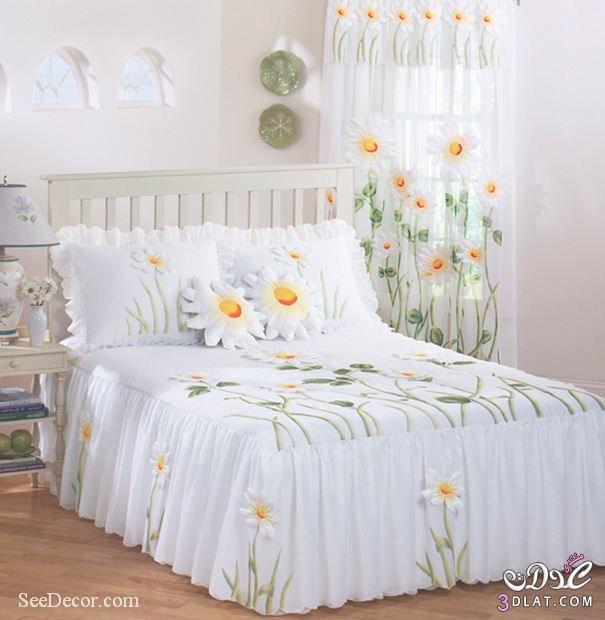 مفارش غرف نوم , مفارش , صور مفارش غرف نوم 2018   مريم ملوكة