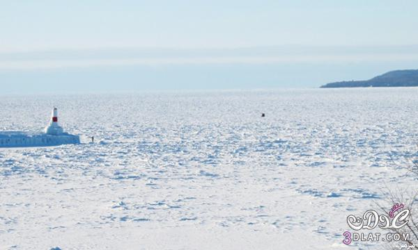 صور: كهوف طبيعية الجليد البحيرات