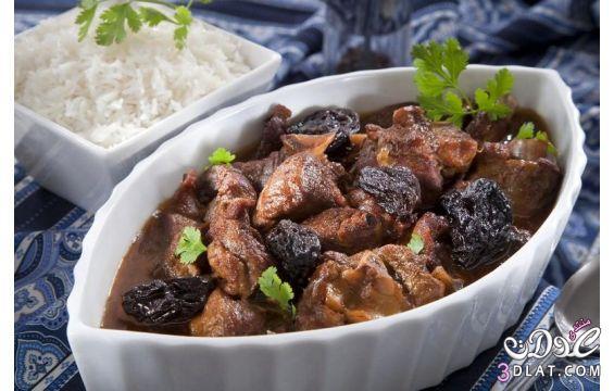 طاجن اللحم بالقراصيا مطبخ منال