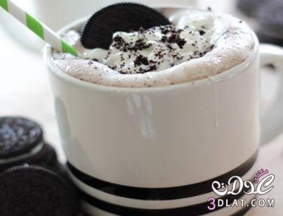 الشوكولاتة الساخنة بالأوريو والمارشميلو