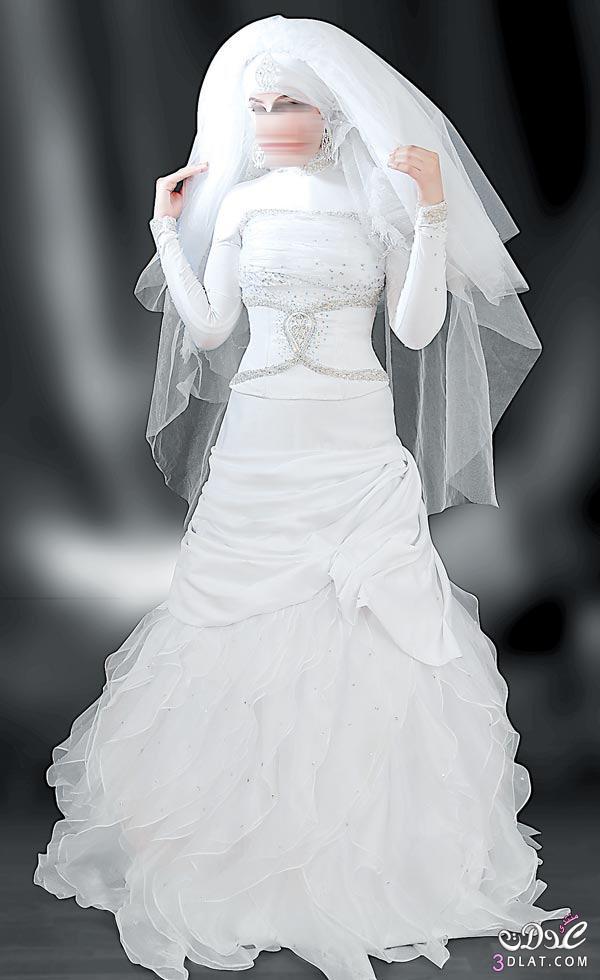 93abacb8cf48b فساتين زفاف محجبات 2020 ، صور فساتين عرائس محجبات 2020 ، اشيك ...