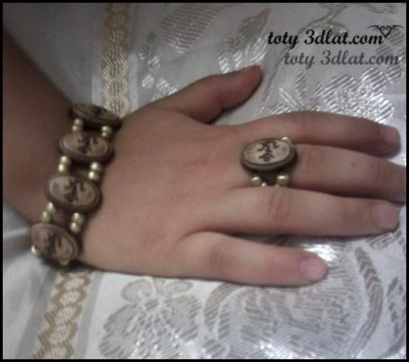 اسورة وخاتم من الخرز بطريقة سهلة وبسيطة طريقة عمل اسورة وخاتم من الخرز بسهولة